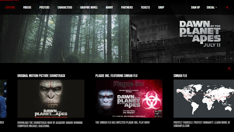 Majmok bolygója weboldala