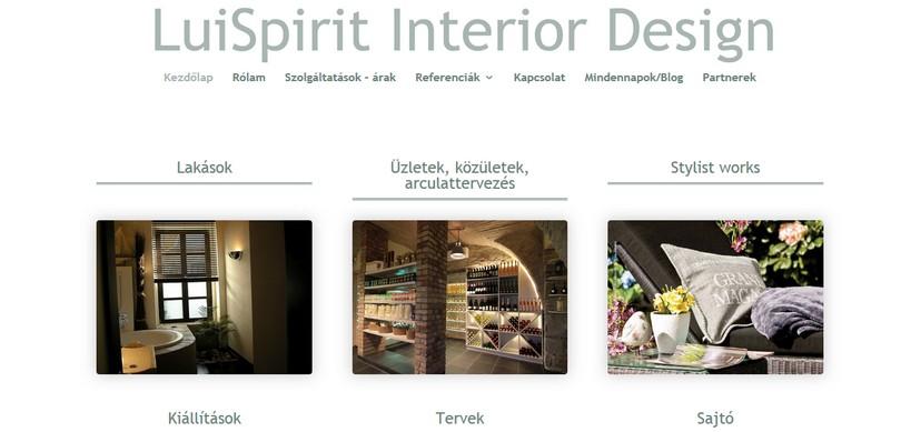 Luispirit.hu weboldal