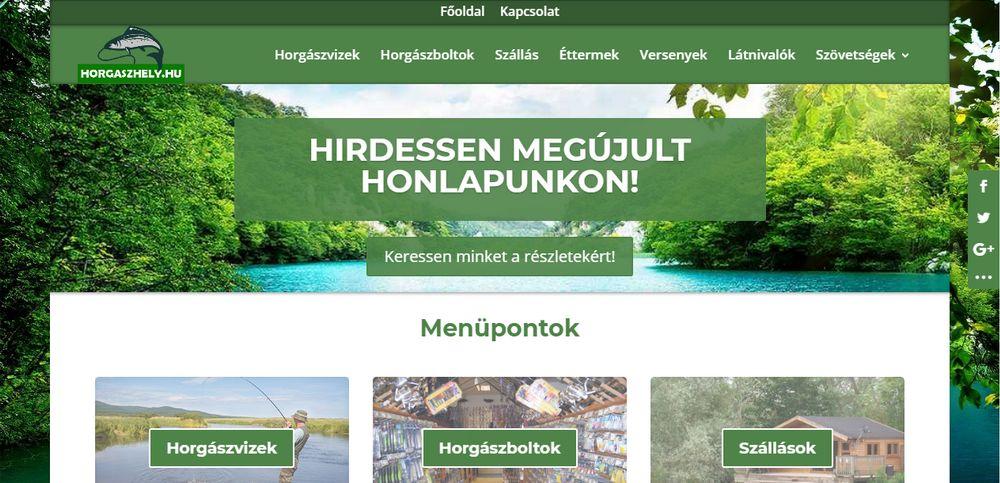 Horgaszhely.hu weboldal képe