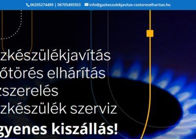 Gazkeszulekjavitas-csotoreselharitas.hu – Weblap készítés referencia